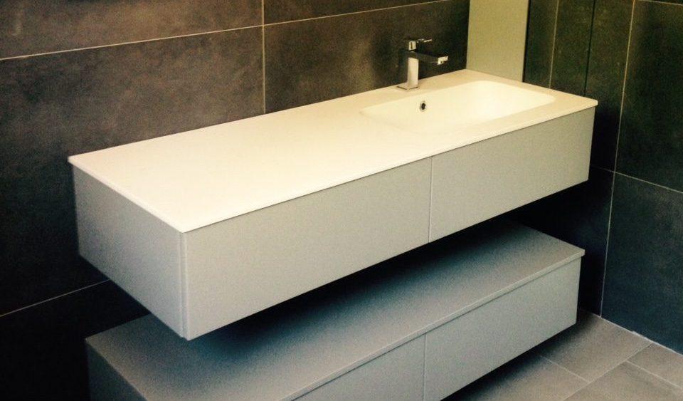 meuble lavabo vasque et plan - Renovation Salle De Bain Lyon