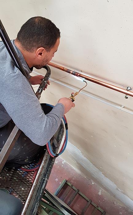 soudure installation chauffage industriel