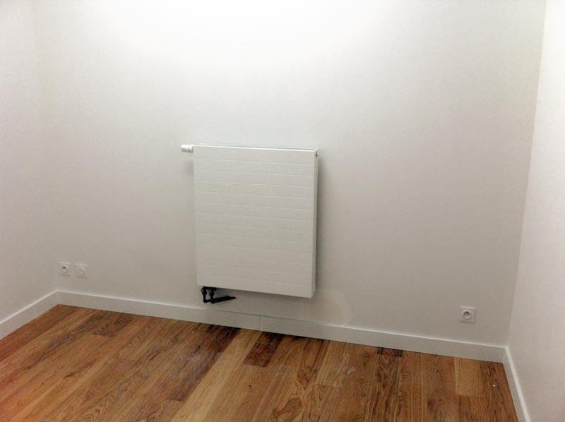 pose d'un radiateur déco au look plus discret