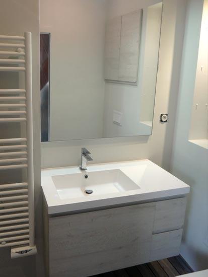 Réalisation Lyon 5 •• Rénovation salle de bain et installation douche