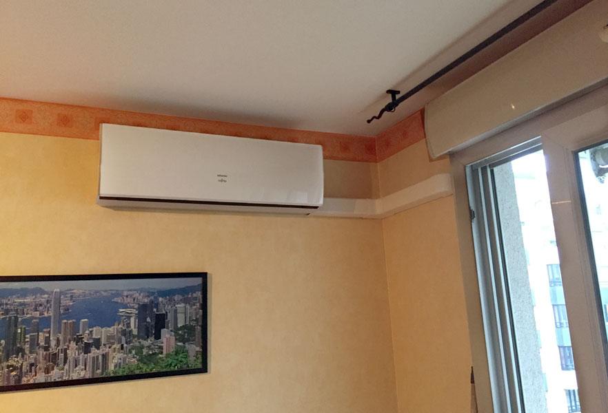 Climatisation dans un salon à Décines