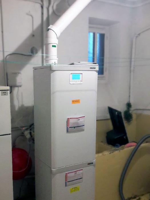 Une chaudière à condensation à Bron