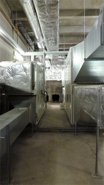 installation de système de ventilation