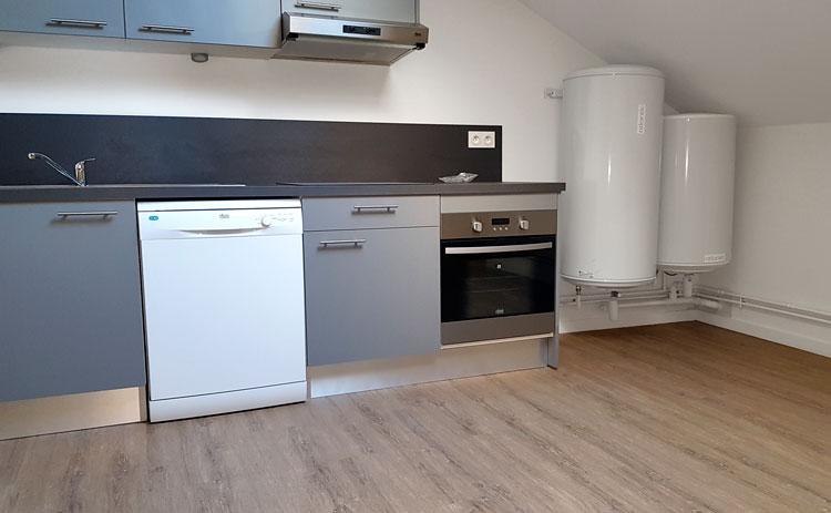 Rénovation de la cuisine d'un appartement locatif