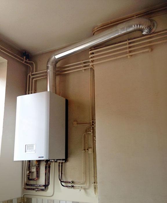 Remplacement et installation chaudière gaz dans appartement locatif lyon