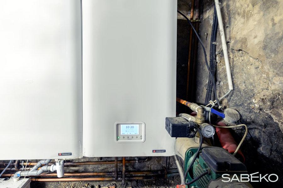 La chaudière à condensation Frisquet installée à Tassin