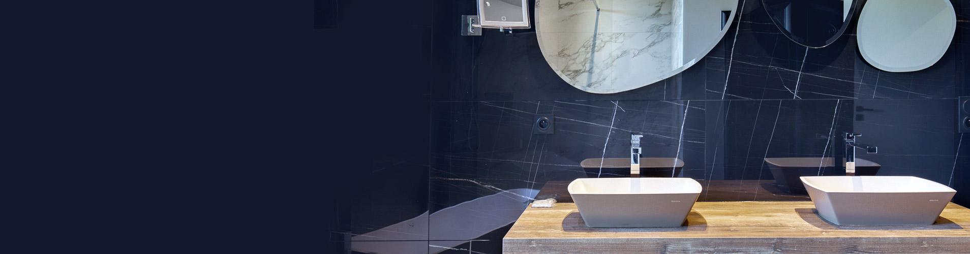 La rénovation d'une salle de bain contemporaine réalisée par SABEKO