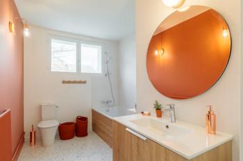 Rénovation d'une salle de bain à Ecully : vue généréale