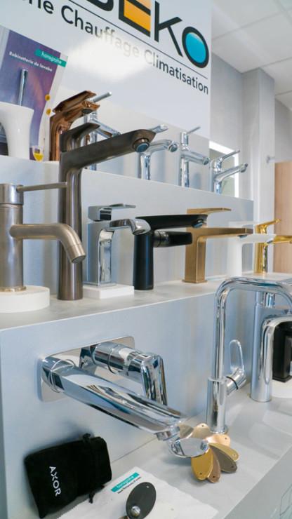 Les mitigeurs et robinets de notre showroom
